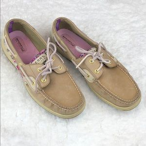 Sperry Top Sider ladies floral boat shoes
